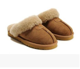 Warm Pink UK - 2018 Hot new Australian classic WGG 5125 warm Cotton Slippers men and Women Slippers Cowhide Baotou dlippers Snow Boots Votton Dlippers