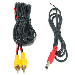 rear monitor UK - 6-20 M RCA Video Cable with Power Line For Car Parking Rearview Rear View Camera Connect Car Monitor DVD Trigger Cable Optional