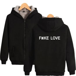 $enCountryForm.capitalKeyWord Australia - 2018 New FAKE LOVE Thick Zipper Hoodies BTS Sweatshirts Print Men Women Thick Sweatshirts Casual Clothes Warm Plus Size XXS-4XL