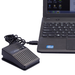 Usb Pedals Australia - Newest Black Plastic USB Single Foot Switch Pedal Control Keyboard Mouse PC Game