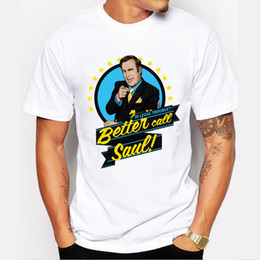 Discount broken bad - Better Call Saul cartoon printed men Breaking Bad T Shirt short sleeve casual fashion male tops novelty funny cool tee f