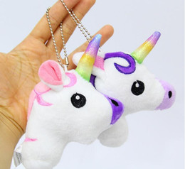 Discount doll decoration games - Cute Cartoon Unicorn Plush Doll Toy Rainbow Simple Soft Ornament Beautiful Personality Bags King Decoration keychain Pen