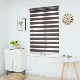 $enCountryForm.capitalKeyWord Australia - Zebra Blinds Horizontal Window Shade Double layer Roller Blinds Window Custom Cut to Size Dark Grey Curtains for Living Room