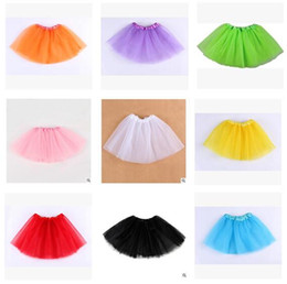 skirt tutu above NZ - Baby Girl Skirts Tulle Tiered Girls Tutu Skirt Pleated Clothes for girls Babies Dress Clothes Best Gifts Kids Clothing DHL Free shipping