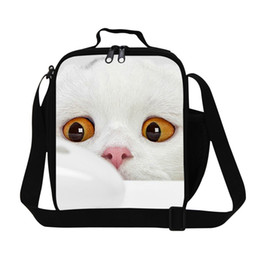 Discount lunch bags for kids - 3D Cat And Mouse Print Lunch Bag For Kids Insulated School Lunch Box Office Ladies Thermal Small Snacks Bag Travel Picni