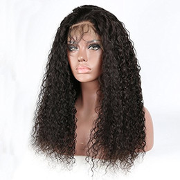 $enCountryForm.capitalKeyWord Australia - 360 Lace Frontal 180% Density Brazilian Virgin Water Wavy Human Hair Wigs For Black Women With Baby Hair 16 inch ,Natural Color