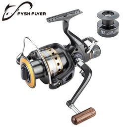 Carp Reels Bait Australia - Fishing Reel Spinning Carp Reel Wooden Handle Front and Rear Carbon Drags Max Drag 18Kg 9+1BB Metal Spool And Shaft C18110601