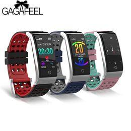 $enCountryForm.capitalKeyWord Australia - E08 Smart Bracelet Fitness Tracker Smart Wristband Heart Rate Monitor ECG PPG Blood Pressure Watch for IOS Android Phone