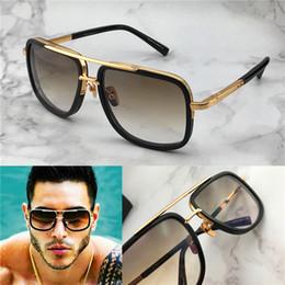 Hot new men occhiali da sole firmati di marca occhiali da sole in titanio placcato oro vintage stile retrò cornice quadrata con lente UV400 originale