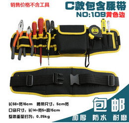 Nylon Pliers NZ - C-109 Yellow edge Oxford cloth 11 in1 Electricians Waist Pocket Tool Belt Pouch Bag Hammers&pliers&Screwdriver Carry Case Holder