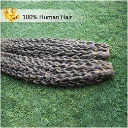 Discount gray curly weave - Silver Gray Hair Weaves 2 Bundles Grade 8a Unprocessed Brazilian Kinky Curly Hair Bundles 200g Grey Kinky Weave Hair Dou