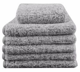 $enCountryForm.capitalKeyWord UK - Sinland Microfiber Hand Towel Bamboo Charcoal Facial Washcloths 12Inch x 12Inch 6 Pack Light Grey