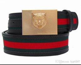 Venta al por mayor de Cinturón de cuero genuino de la novedad de los hombres Cinturón de cuero de la plata esterlina de lujo Cinturones de la hebilla animal Correa del diseñador de la garantía de la calidad masculinos del negocio
