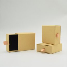 kraft jewelry gift boxes UK - 1pcs Kraft Paper Jewelry Storage Gift Box Soap Wedding Candy Jewelry Box