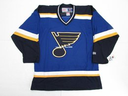 f421fd5d20f Cheap custom ST. LOUIS BLUES VINTAGE CCM HOCKEY JERSEY stitch add any  number any name Mens Hockey Jersey XS-5XL