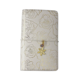 China Lovedoki Traveler's Notebook Golden Flower Hot Stamping Cover 2018 Personal Diary Planner Gift Stationery Store School Supplies supplier personal diary suppliers