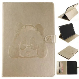 Discount ipad pro leather folio - Tablets Case Funda For iPad Pro 10.5 inch Covers Cases PU Leather Wallet Bag Card embossing Panda For iPad Pro 10.5""