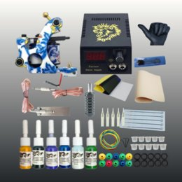 $enCountryForm.capitalKeyWord NZ - Tattoo Kits for Beginner Tattoo Ink Set LCD Power Supply Permanent Makeup Tattoo Kit Set Body Art Supplies