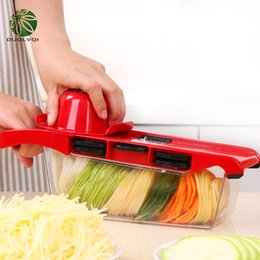 Cutter vegetable diCer online shopping - New Design Mutifunctional Vegetables Cutter Blade Carrot Grater Onion Dicer Slicer Stainless Steel And Abs Kitchen Tools