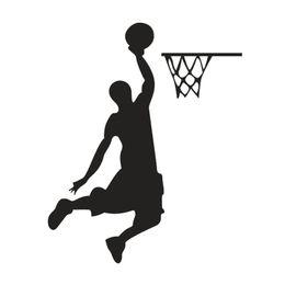 $enCountryForm.capitalKeyWord UK - Basketball Player Cartoon Vinyl Switch Sticker Decor Lightswitch Decor Wall Decals