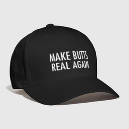 8fd7486a246022 Make butts real again Embroidered Customized Ass I Love Pit-bull cute funny  Novelty designs Personallity Summer Curved Dad hat
