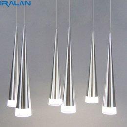 Lampade a sospensione a LED Isola di cucina Sala da pranzo Negozio Bar Bancone decorativo Lampade a sospensione a tubo cilindrico Lampade da cucina in Offerta
