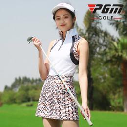 $enCountryForm.capitalKeyWord Canada - PGM Golf Sleeveless T-shirt For Women Leopard Standing Collar Breathable Women's Polo Sport Vest Quick Dry Golf Wear Waistcoat