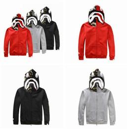 ab2493ee6563f Bape shark jacket online shopping - Mens Zip Shark Hoodie Sportswear Coat  Pullover Sweatshirt Hip Hop