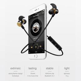 Wireless Headphones Mic Blue Australia - 2018 Universal headphones 4.1 Deep Bass headphones Wireless in Ear Metal Sport Music bluetooth headphones with Mic