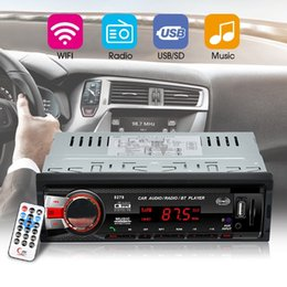 Usb Input Receiver NZ - DHL 10PCS Bluetooth Car In-Dash FM Stereo Audio Input Receiver SD USB MP3 Radio 8278 (Color: Black)