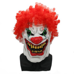 $enCountryForm.capitalKeyWord UK - Hanzi_masks HOT! Halloween Mask Scary Clown Latex Full Face Mask Big Mouth Red Hair Nose Cosplay Horror masquerade mask Ghost Party
