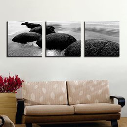 art canvas prints Australia - Canvas Wall Art Pictures Framework Home Decor 3 Pieces Beach Sea Reef Stones Paintings HD Prints Seascape Poster For Living Room
