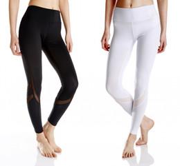 Discount polyester yoga pants - High Waist Slim Fit Women Yoga Sports Running Gym Pants Leggings Solid Colors Women Fashion Leggings Free Shipping FS560