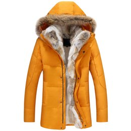 fbe97b49776 Wool Liner Jacket Men Winter Hooded Thick Warm Duck Down Coat Male Long  Parkas Women Feather Fur Collar Hat Snow Windbreaker