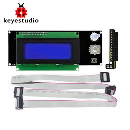 China Keyestudio 2004 LCD Smart Display Controller Module + Adapter+ 30cm Cable for 3D Printer Controller RAMPS 1.4 Arduino RepRap cheap arduino printer suppliers