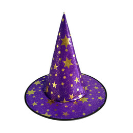 $enCountryForm.capitalKeyWord Australia - UNISEX PURPLE Halloween Hat Witch Hat Fancy Dress Party Costume Accessories Caps wig witch halloween costumes for adults free size vampries
