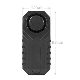 China 113dB Wireless Anti-Theft Vibration Motorcycle Bicycle Waterproof Security Bike Alarm with Remote BB55 cheap bicycle bike alarm security lock suppliers
