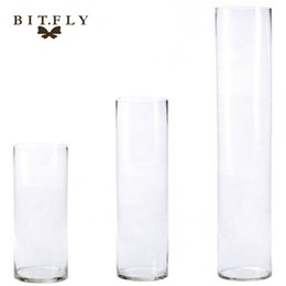 $enCountryForm.capitalKeyWord UK - centerpiece 2017 New Arrival Acrylic Cylinder Vase Clear Round Plastic Wedding Flower Stander Road Lead T-Stage Table Centerpiece