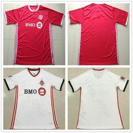Blank red online shopping - 2018 Toronto FC Soccer Jerseys BRADLEY GIOVINCO ALTIDORE OSORIO Blank Home Away Red White Custom Football Shirt Uniform