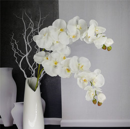 Discount real touch orchid flowers - Artificial Butterfly Orchid Branch Flower Decoration Real Touch Flowers Simualtion Plants Wedding Home Office Party Deco