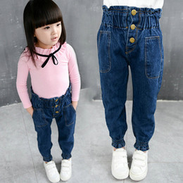 d1901c95e822d Baby Girl Jeans Winter Denim Vintage Pants Children's Thicken Warm Trousers  Kid Fleece Skinny Long Pants Bebe Warm Legging