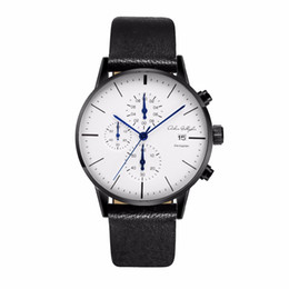$enCountryForm.capitalKeyWord Canada - Chronograph Mens Watches Top Brand Luxury Leather Strap Sports Quartz Wrist Watches Multi-function Wristwatch Adam Gallagher
