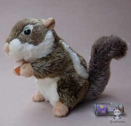 real good toys UK - Toys Baby Soft Cute Chipmunk Doll Gifts Real Life Squirrel Holding pine cones Dolls Animals Good Quality Toy Shops
