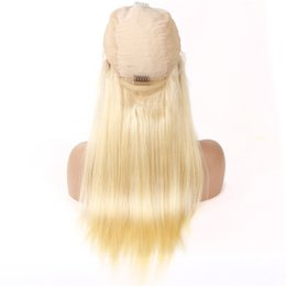 Chinese  613 Blonde Lace Frontal Wig Human Hair With Baby Hair Straight Lace Front Wigs Remy Human Hair Wig For Women Pre plucked Hairline manufacturers