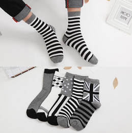 Huf Socks Fashion Canada - 50 pairs Winter socks for men 2017 Popular Mens cotton socks wholesale skateboard fashion business Short Socks Short