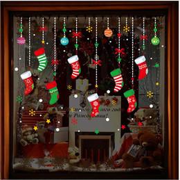 $enCountryForm.capitalKeyWord NZ - 2019 New Christmas colorful window glass decorative stickers holiday store dress up Christmas tree garter sticker