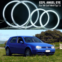 $enCountryForm.capitalKeyWord Australia - 4x Car Headlight CCFL Angel Eyes Light Halo Rings Kits For VW GOLF4 MK4 Typ1J #4282
