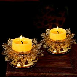 Block Supplies Australia - One pair Buddha supplies Zinc alloy butter lamp candle holder Candlestick Long light stand 6.6x4.5x8.5cm