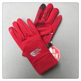 Großhandel Winter Fleece Marke NF Handschuhe Unisex Touchscreen Handschuh Der Norden Winddicht Telefingers Handschuhe Männer Frauen Outdoor Fäustlinge Gesicht Warmer Handschuh Neu