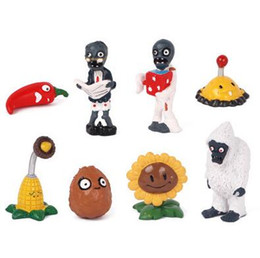 Plants Vs Zombie Figures NZ - Free Shipping Plants vs Zombies Figure Plants Zombies Toys PVC Action Figures for car decoration kids gifts